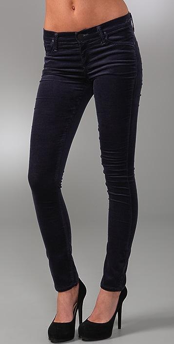 GOLDSIGN Lure Velvet Skinny Pants
