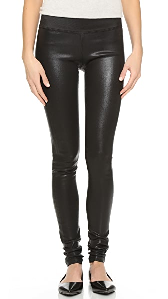 GOLDSIGN Zebra Coated Legging Jeans - Black Coated