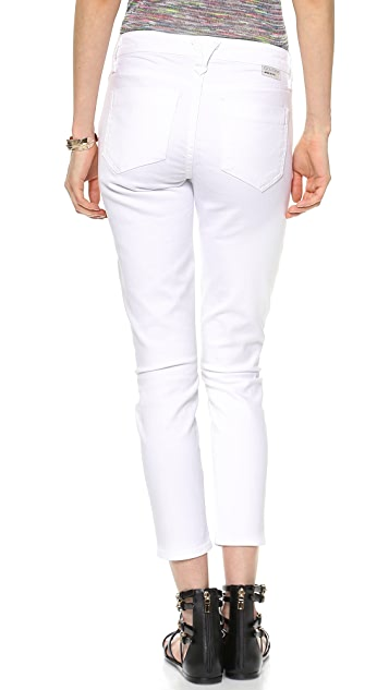 GOLDSIGN Glam Skinny Crop Jeans