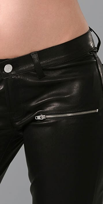 Golden Goose Skinny Leather Pants with Zippers