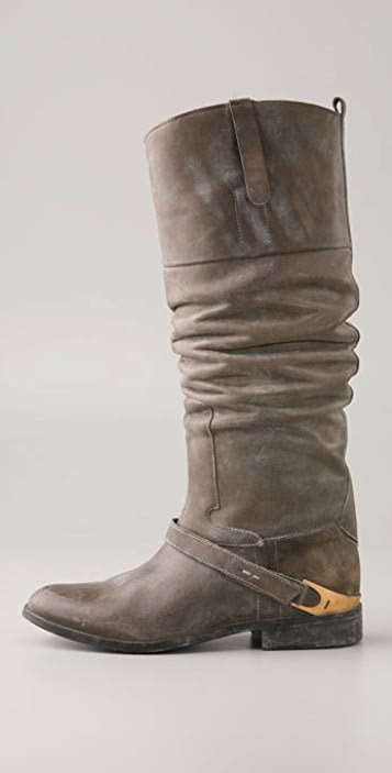 Golden Goose Charlye Pull On Boot with Instep Strap