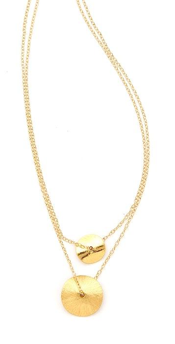 Gorjana Double Petal Necklace