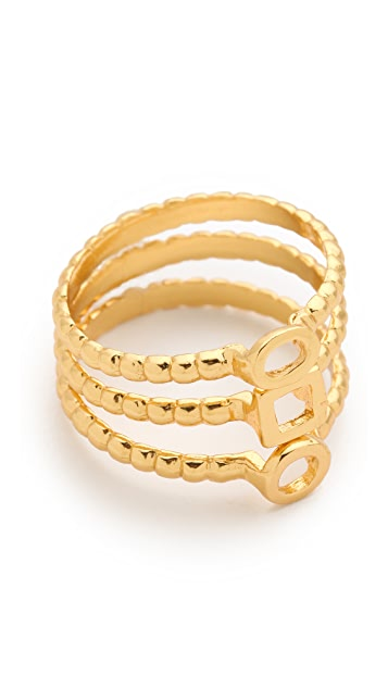 Gorjana Tress Stackable Rings