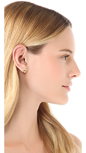 Gorjana Friendship Heart Stud Earrings