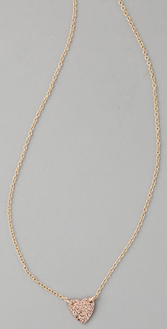 Gorjana Breast Cancer Awareness Heart Necklace