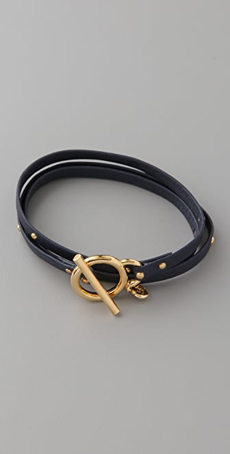 Gorjana Graham Studded Leather Wrap Bracelet