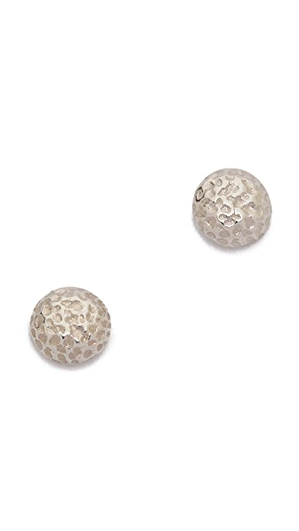 Gorjana Carmel Tiny Hammered Stud Earrings