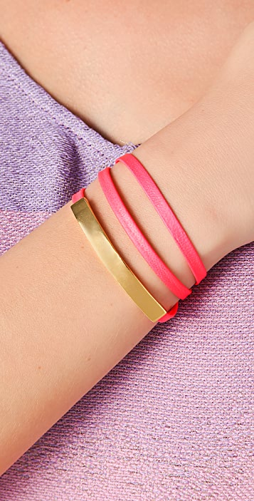 Gorjana Graham Leather Bar Triple Wrap Bracelet