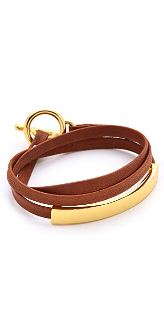 Gorjana Graham Leather Triple Wrap Bracelet