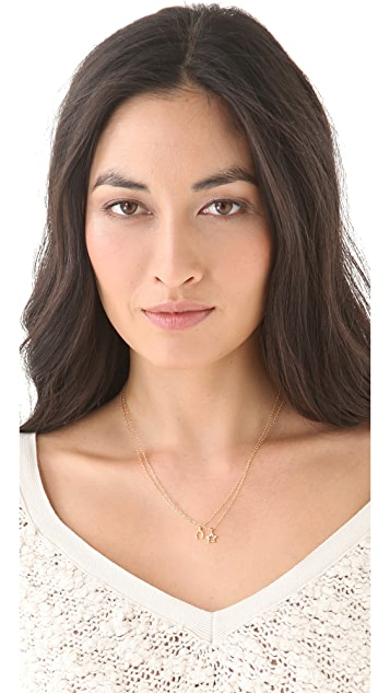 Gorjana Wishbone Charm Necklace