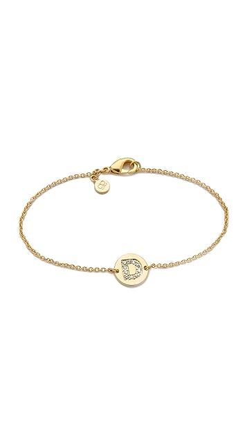 Gorjana Alphabet Coin Bracelet