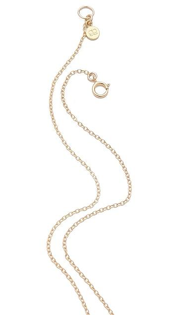 Gorjana Pressed Cross Charm Necklace