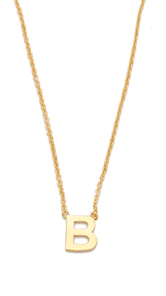 Gorjana Alphabet Necklace
