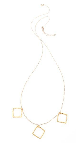 Gorjana Finley 3 Charm Necklace