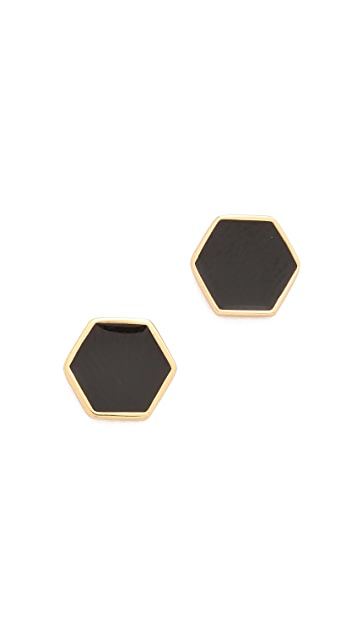 Gorjana Bloom Hexagon Stud Earrings