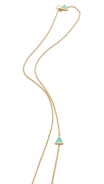 Gorjana Bloom Triangle Wrap Necklace