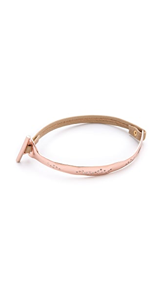 Gorjana Shimmer Half Bar Leather Bracelet