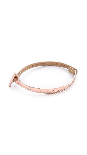 Gorjana Shimmer Half Bar Leather Bracelet
