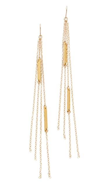 Gorjana Knot Bar Duster Earrings