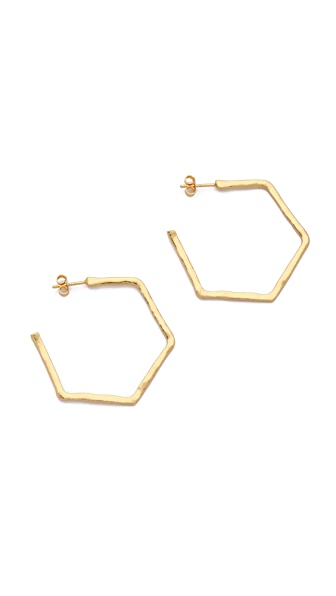 Gorjana Honeycomb Hoop Earrings