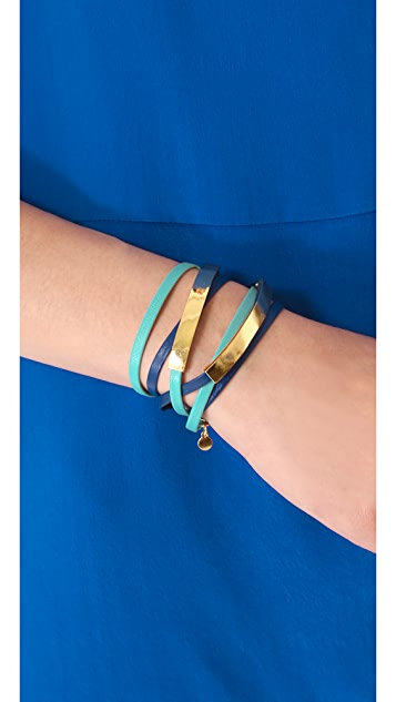 Gorjana Graham Leather ID Wrap Bracelet