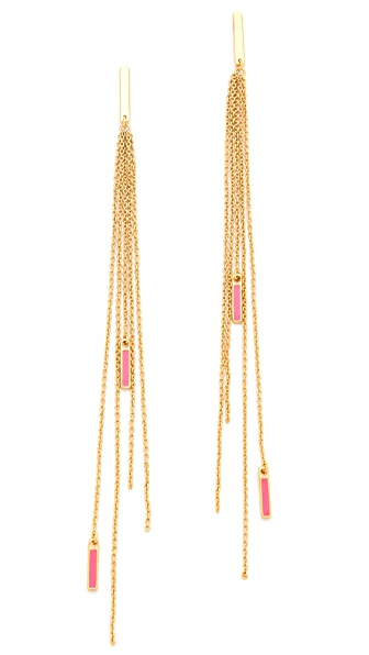 Gorjana Neon Knox Fringe Earrings