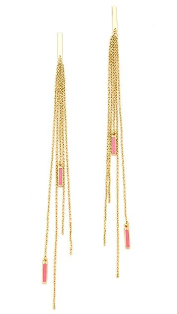 Gorjana Neon Knox Fringe Earrings