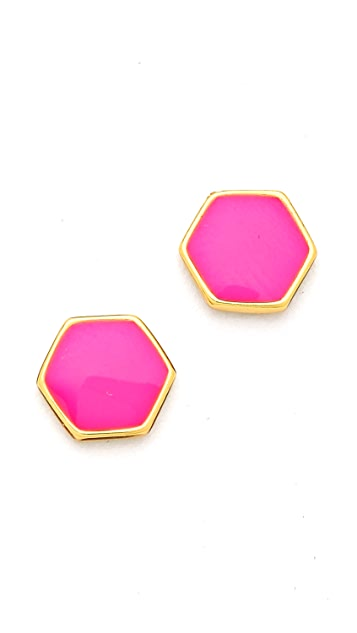 Gorjana Electric Hexagon Stud Earrings