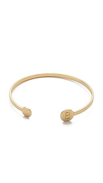 Gorjana Alphabet Disc Cuff Bracelet