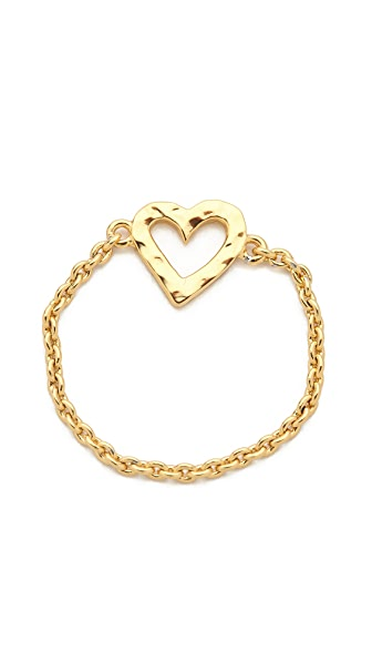 Gorjana Heart Chain Ring
