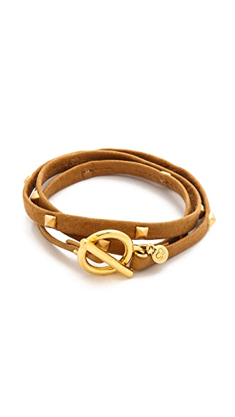 Gorjana Graham Sunset Leather Triple Wrap Bracelet