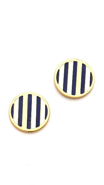 Gorjana Sea Stripe Circle Stud Earrings