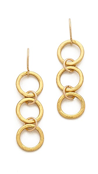 Gorjana G Ring Three Charm Earrings