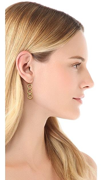 Gorjana G Ring Three Charm Earrings