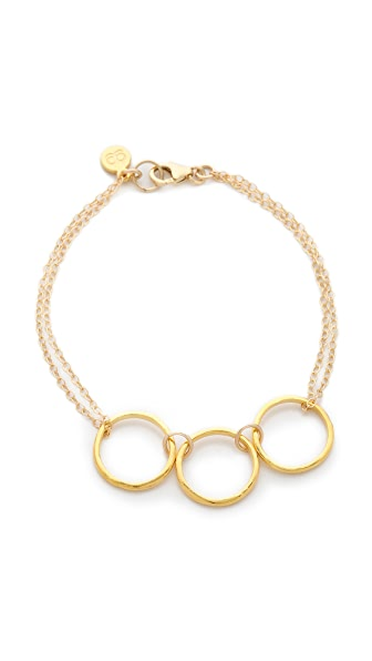 Gorjana G Ring Double Chain Bracelet