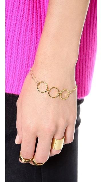 Gorjana G Ring Double Chain Bracelet