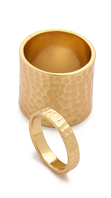 Gorjana Camila Hammered Ring Set