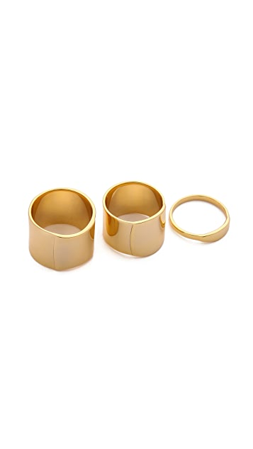 Gorjana Camila Beveled Ring Set