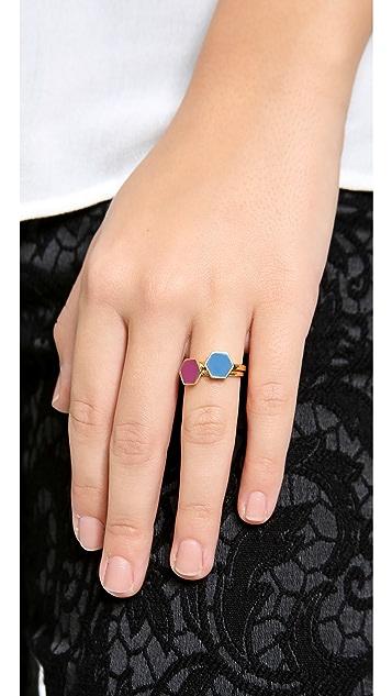 Gorjana Sunset Hexagon Ring Set