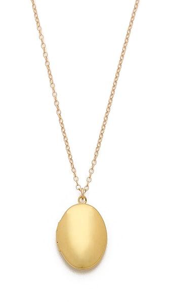 Gorjana Circle Locket Necklace