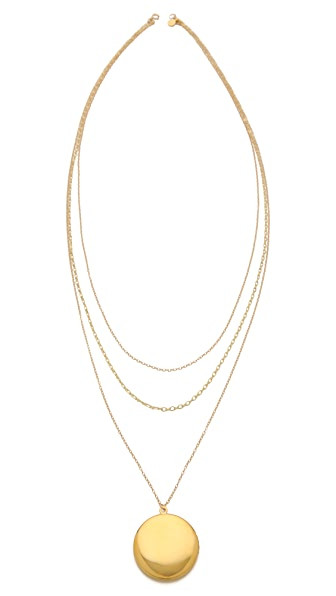 Gorjana Ella Layered Locket Necklace