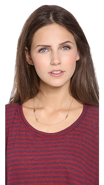 Gorjana Sage 3 Leaf Mini Necklace