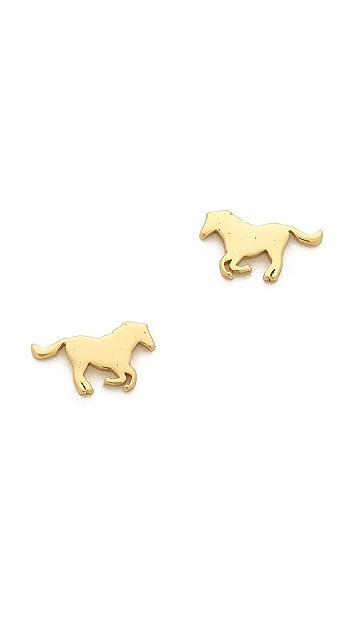 Gorjana Horse Stud Earrings