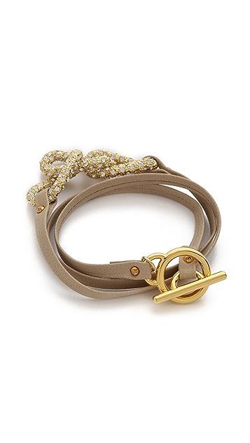 Gorjana Parker Shimmer Leather Wrap Bracelet