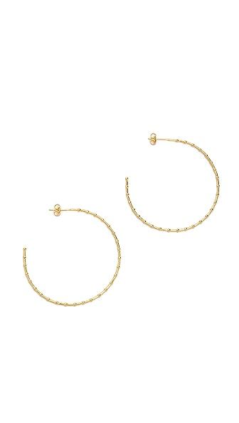 Gorjana Batik Hoop Earrings