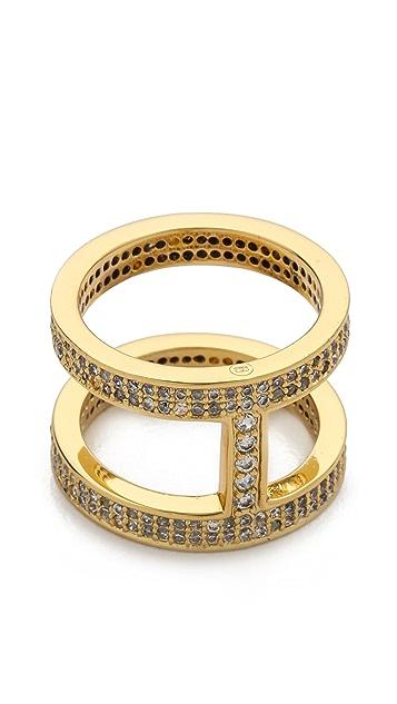 Gorjana Lena Shimmer Double Bar Ring