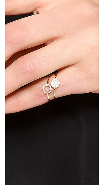 Gorjana Shimmer Disk Ring Set