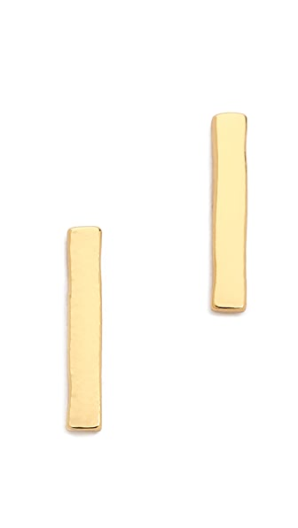 Gorjana Taner Bar Mini Stud Earrings - Gold