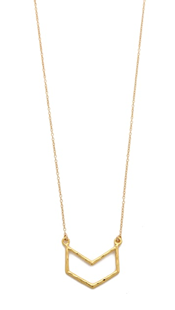 Gorjana Chevron Pendant Necklace