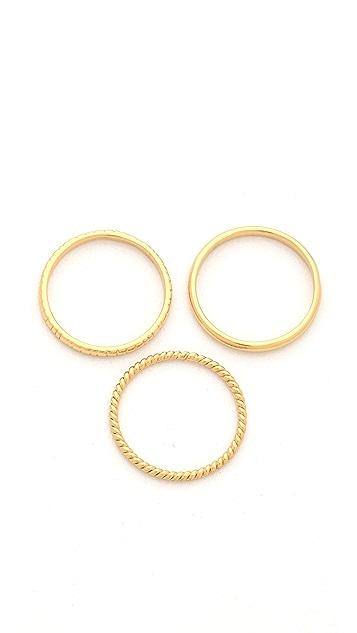 Gorjana Nautical Midi Ring Set